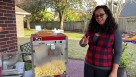 Popcorn Machine 2 tables 12 chairs package Youtube