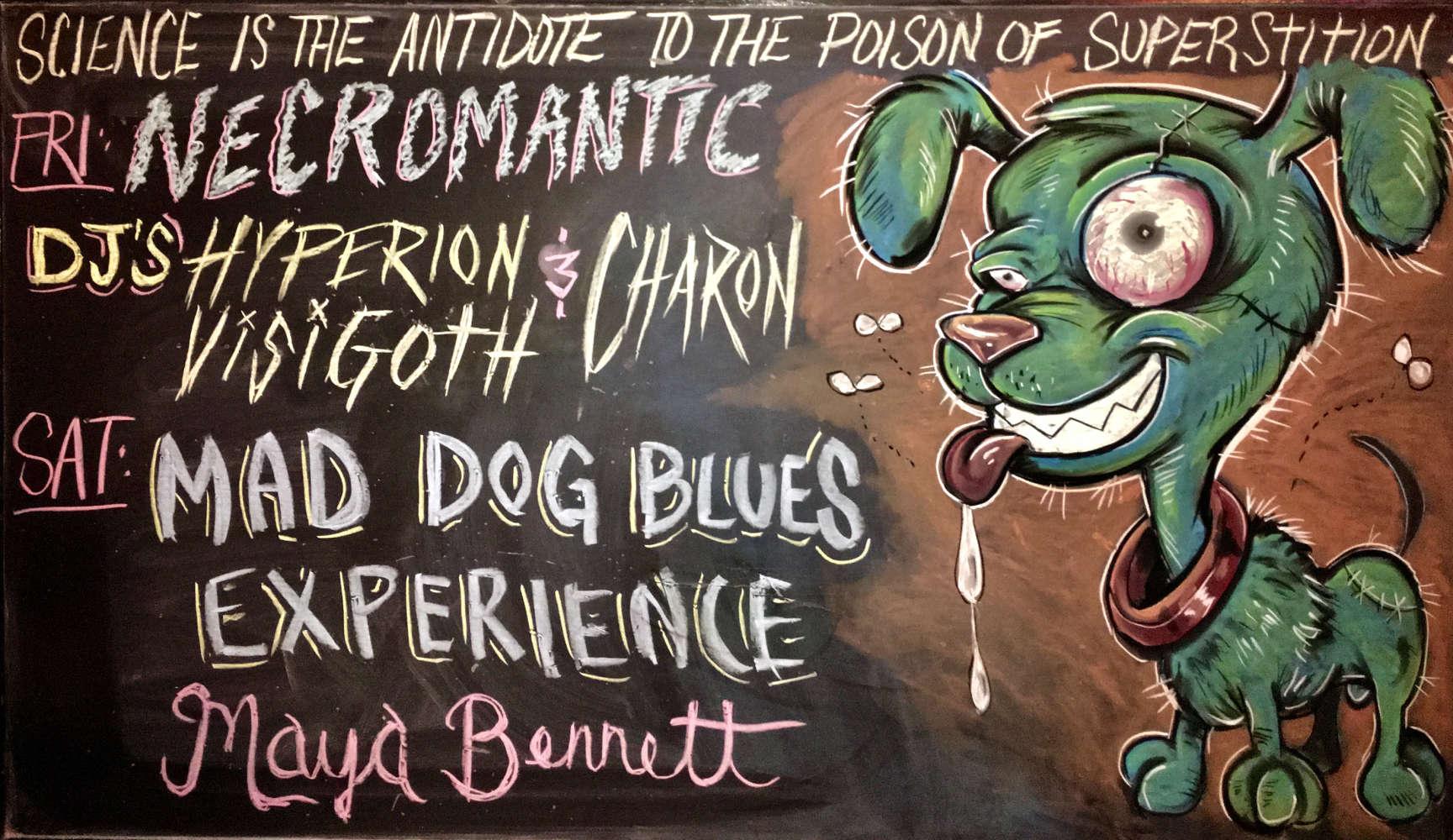 Chalkboart art by Joshua Finley. Photo courtesy Robert Mitton.