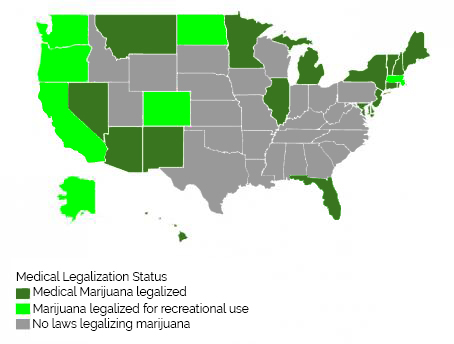 Marijuana Map of US