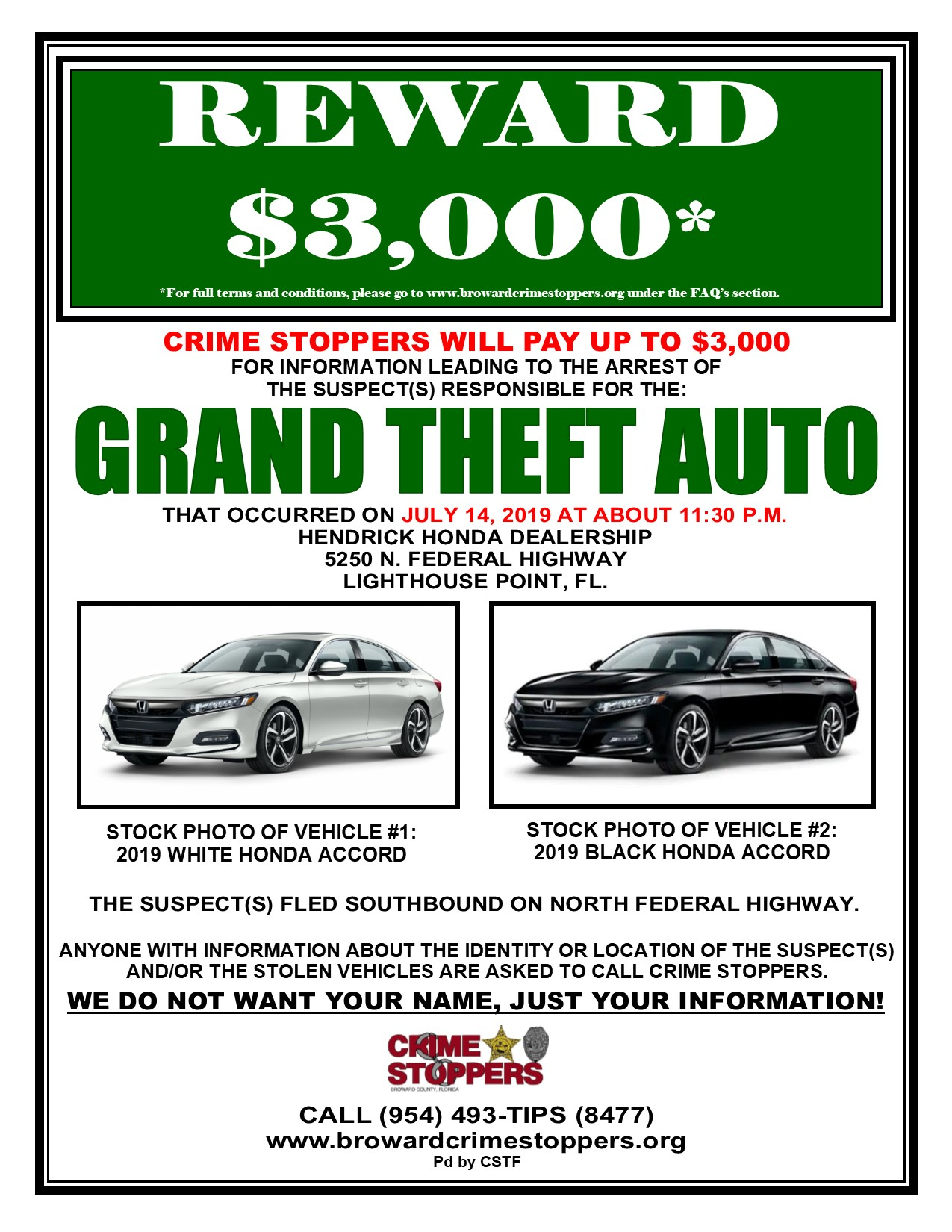 Unsolved Crimes | Broward Crime Stoppers