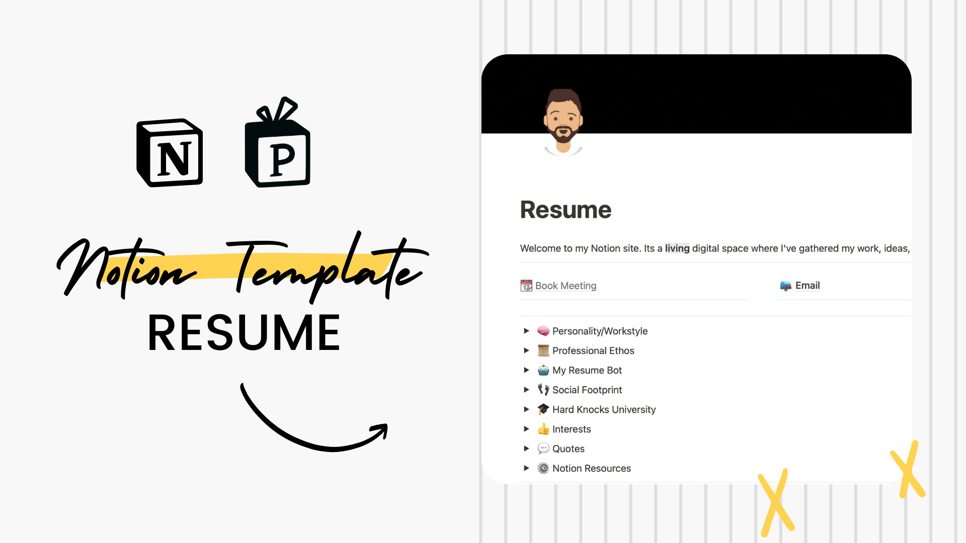 A Cool & Interactive Resume Template | Built Using Notion