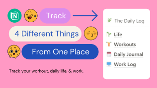 The Daily Log Template | Free Notion Template | Prototion