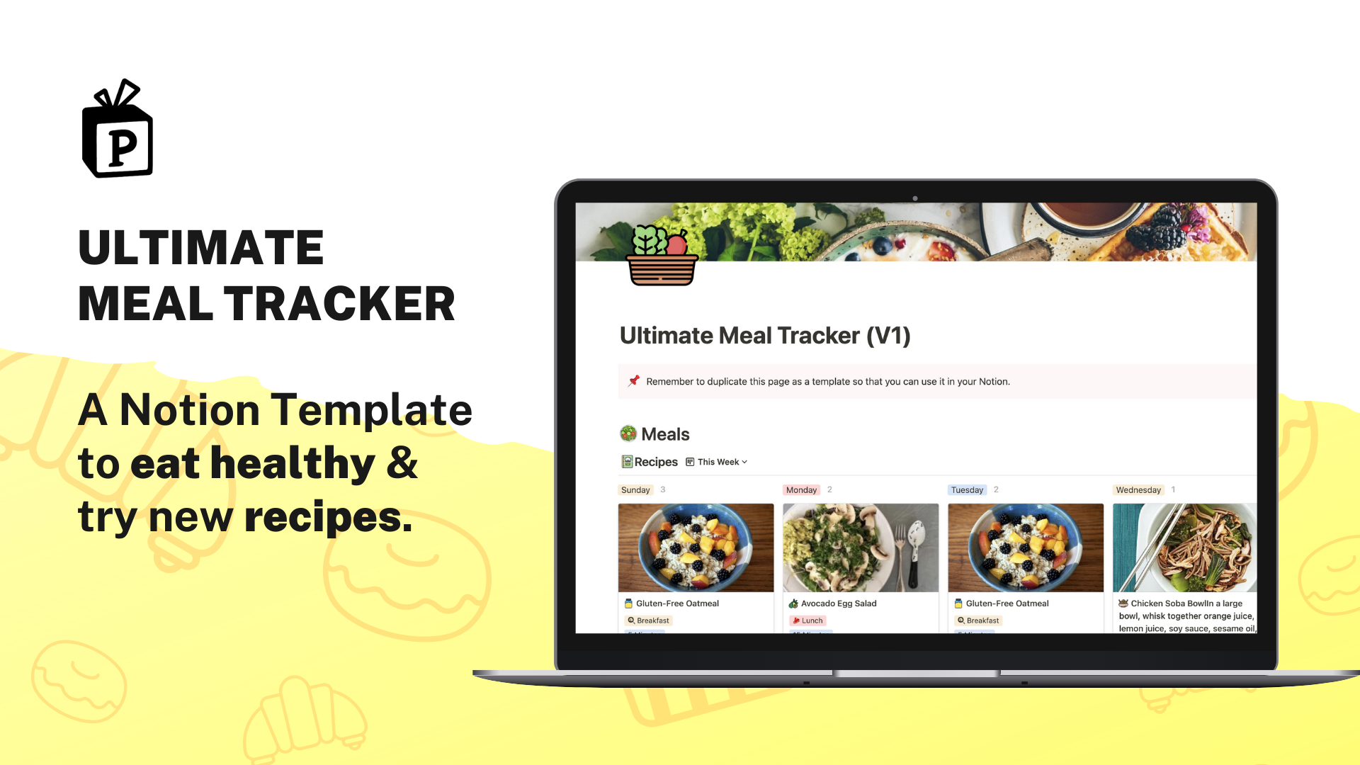 Ultimate Meal Tracker | Buy Notion Template at Prototion
