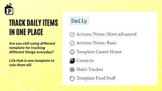 Life Hub Notion Template | Free Notion Template | Prototion