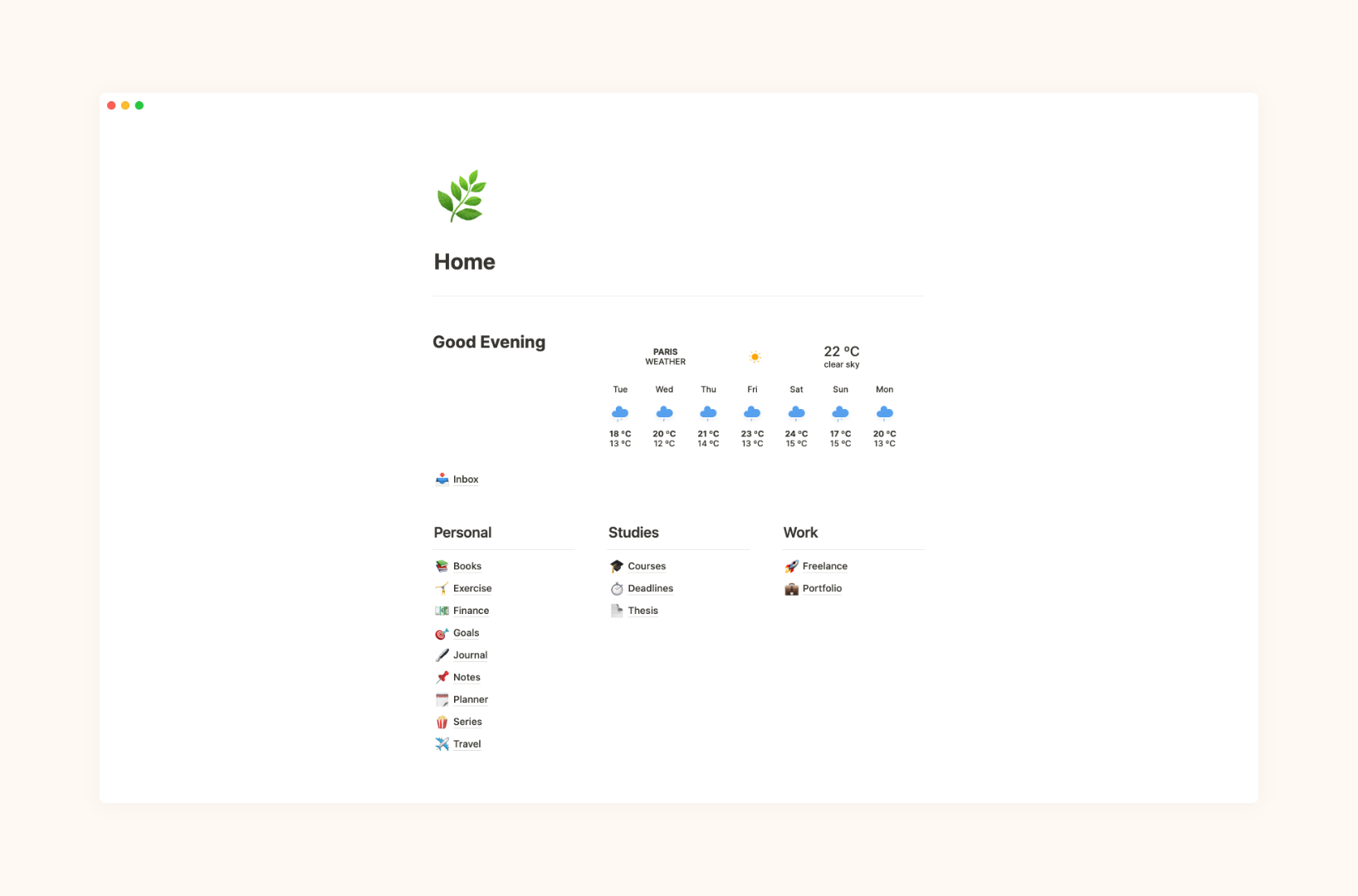 Simple Dashboard   Free Notion Template  Prototion