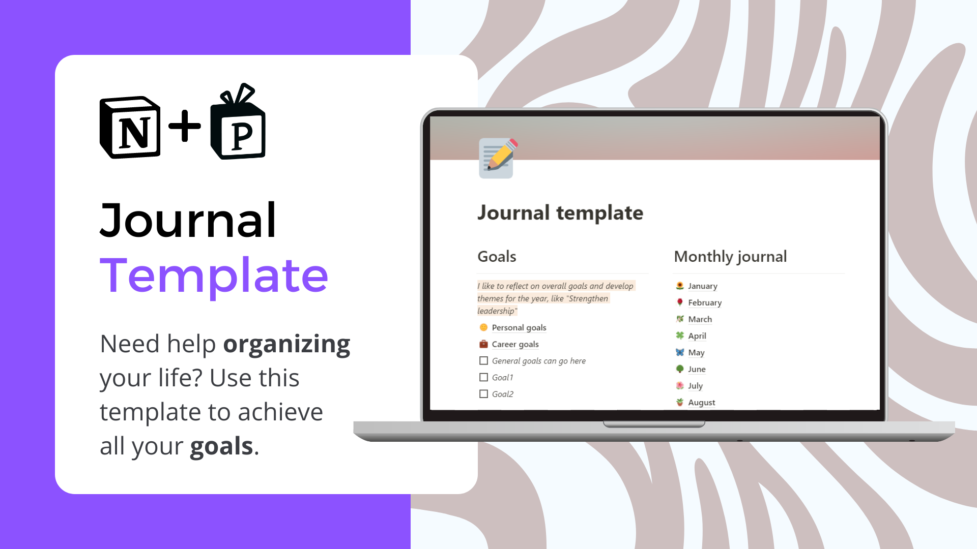 Journal Notion Template | Get it Now at Prototion