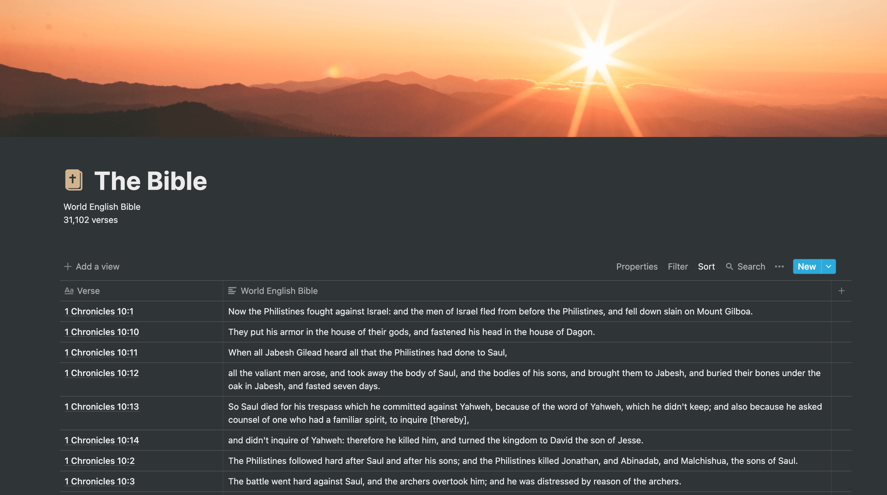 The Bible | Free Notion Template | Prototion