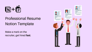 Resume Template   Ready-To-Use Notion CV For Success