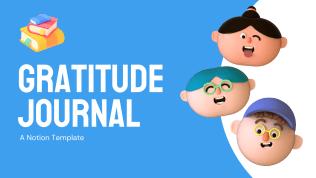 Gratitude Journal | Free Notion Template | Prototion
