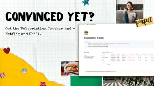 Subscription Tracker | Free Notion Template | Prototion