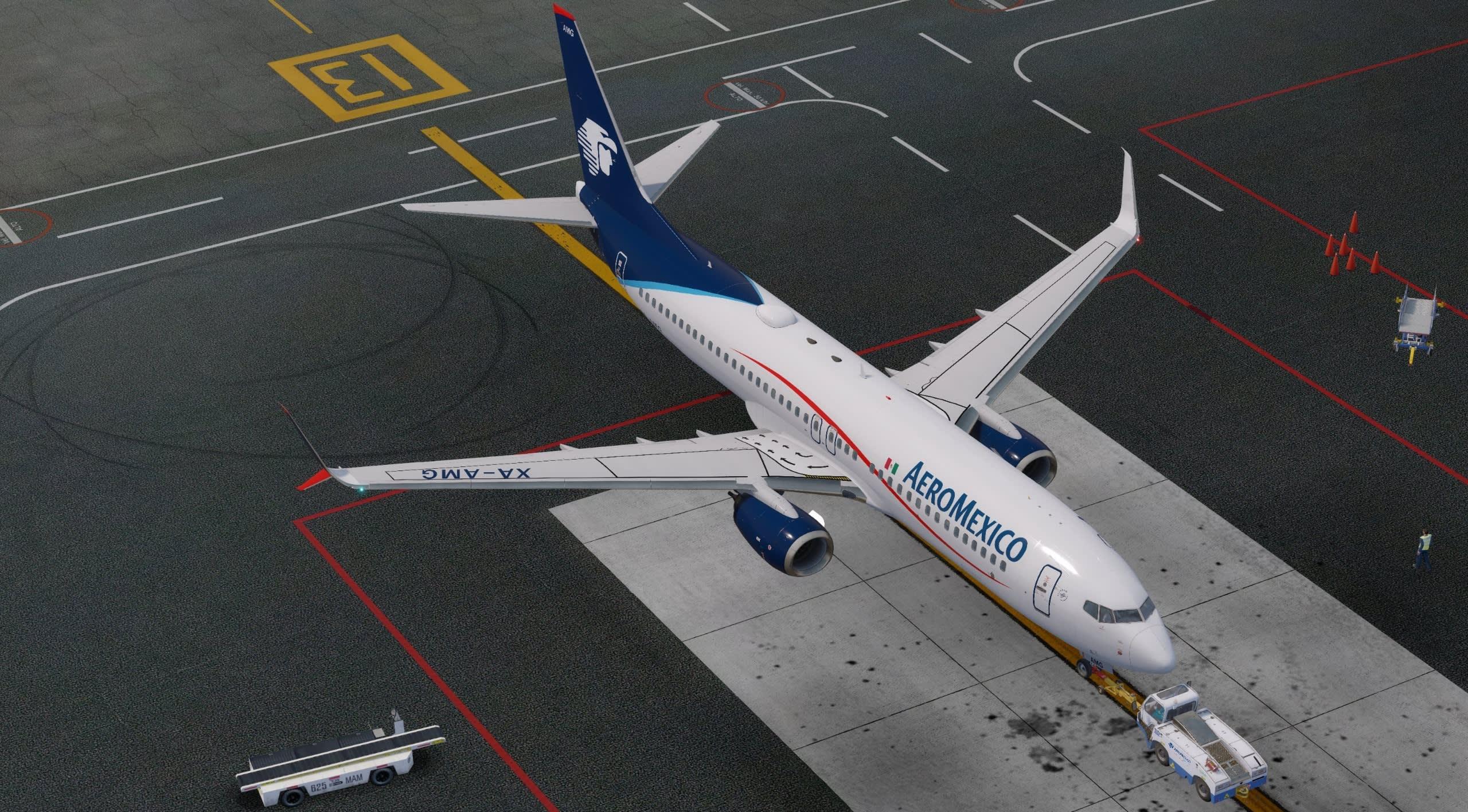 Aeromexico at MMMX for the Aeromexico tour