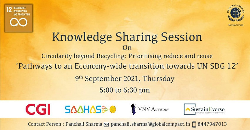 Knowledge Sharing Session on Circularity beyond Recycling: prioritizing reduce and reuse. <br> Theme-