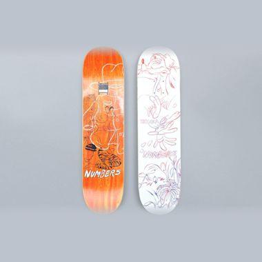 Numbers 7.8 Teixeira Edition 4 Skateboard Deck White
