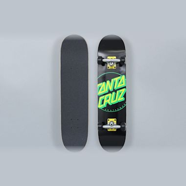 Santa Cruz 7.25 Classic Dot Complete Skateboard Black / Green