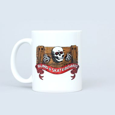 Second view of Blind Dodo Skull Coffee Mug White