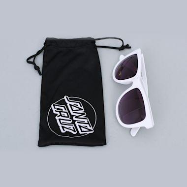 Second view of Santa Cruz Classic Strip Sunglasses White