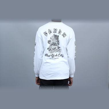 5Boro Hawaii Division Longsleeve T-Shirt White