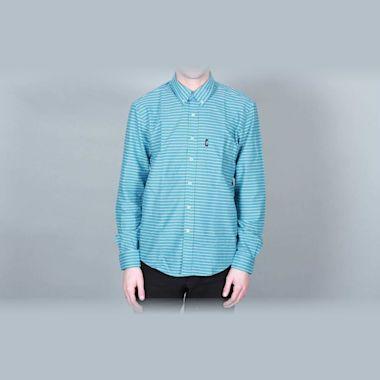 DQM Sandrevan Horizontal Stripe Shirt Turquoise