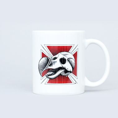 Blind Dodo Skull Coffee Mug White