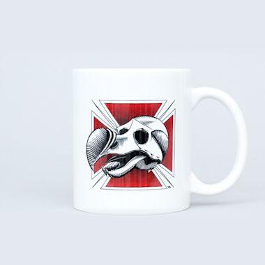 Blind Dodo Skull Coffee Mug White