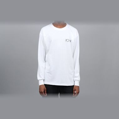 Second view of Polar Skeleton Fill Logo Longsleeve T-Shirt White