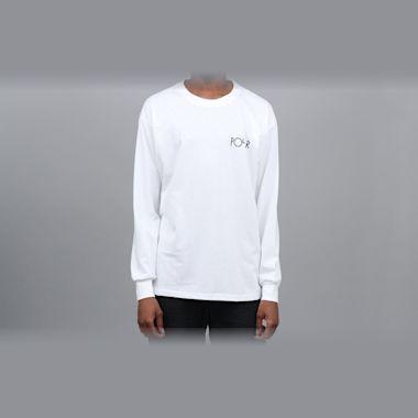 Second view of Polar Skeleton Fill Logo Longsleeve T-Shirt White