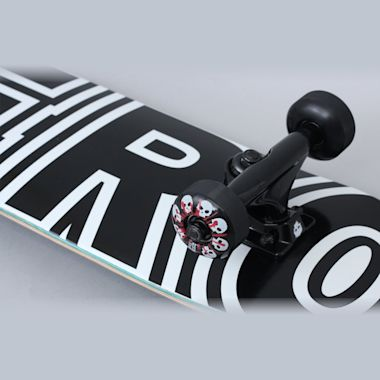 Second view of Zero 7.25 Bold Complete Skateboard Black / White