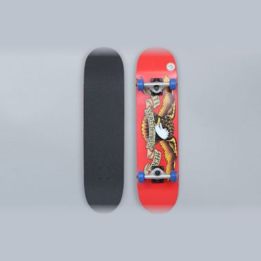 Anti Hero 7.38 Classic Eagle Mini Complete Skateboard Red