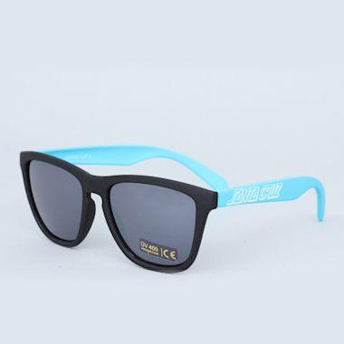 Second view of Santa Cruz Volley Sunglasses Black / Blue