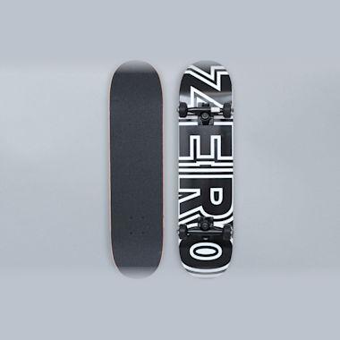 Zero 7.25 Bold Complete Skateboard Black / White