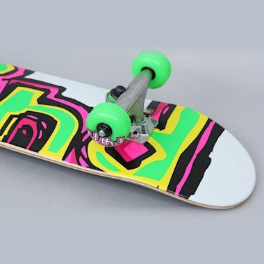 Second view of Blind 7 Matte OG Logo Youth Complete Skateboard White / Green