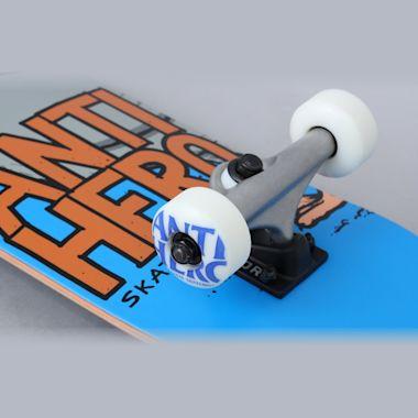 Second view of Anti Hero 7.38 Pigeon Hero Mini Complete Skateboard Blue