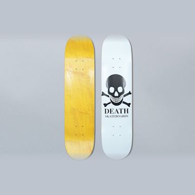 Death Skateboards 8 OG Skull White Skateboard Deck