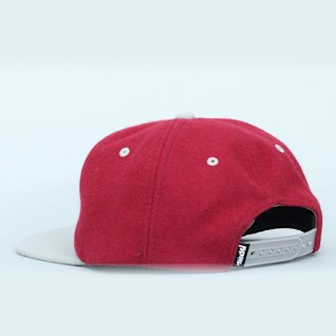 Second view of Fucking Awesome Maroon Felt Snapback Cap Burgundy / Grey