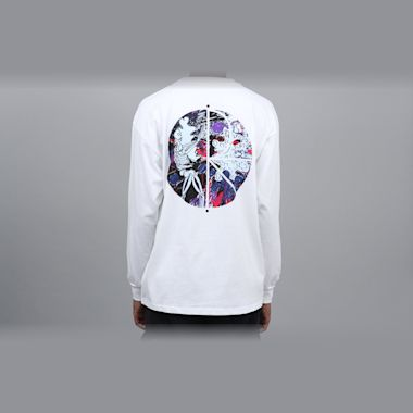 Polar Skeleton Fill Logo Longsleeve T-Shirt White