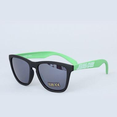 Second view of Santa Cruz Volley Sunglasses Black / Lime