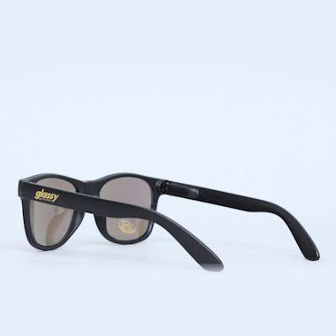 Second view of Glassy Leonard Matte Black / Green Mirror Sunglasses