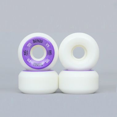 Bones 55mm OG 100's V5 Wheels White / Purple