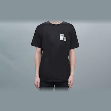 Dear Skating Garbage Cans T-Shirt Black