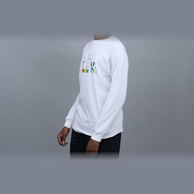 Second view of Frog Colourline Longsleeve T-Shirt White