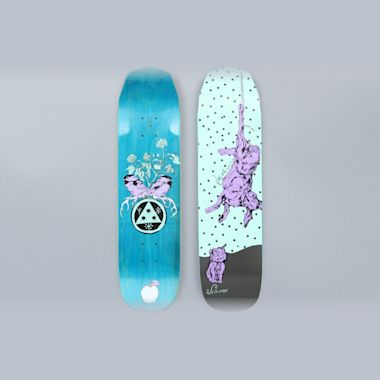 Welcome 7.6 Fairy Tale Mini On Wicked Mini Skateboard Deck Teal / Black