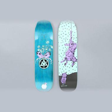 Welcome 7.6 Fairy Tale Mini On Wicked Mini Skateboard Deck Teal / Black