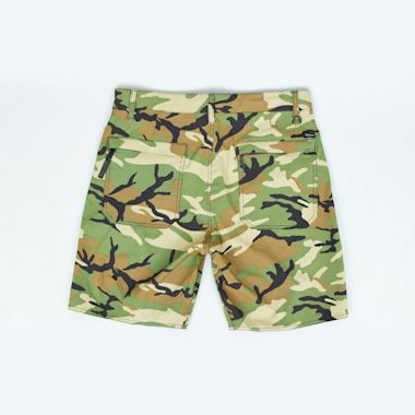 Second view of Brixton Prospect Service Shorts Camo
