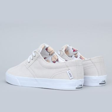 Second view of Lakai Daly Shoes White / White
