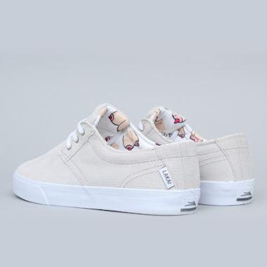 Second view of Lakai Daly Shoes White / White