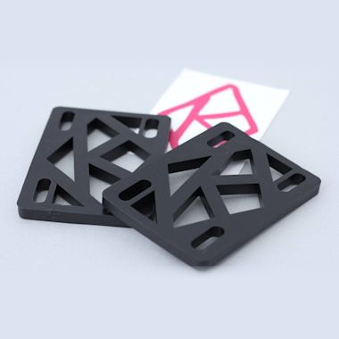Krooked 1/4 inch Risers Black Pack of 2