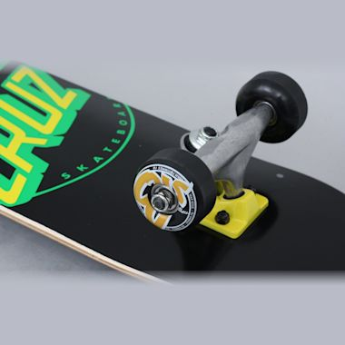 Second view of Santa Cruz 7.25 Classic Dot Complete Skateboard Black / Green