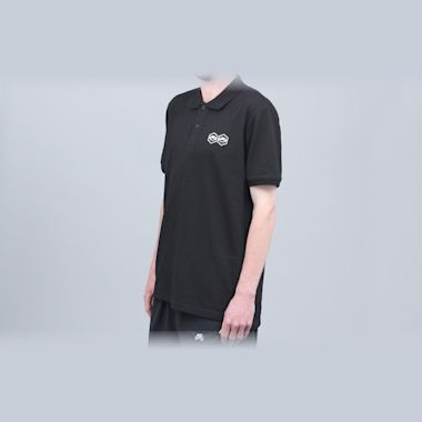 Second view of Jet Lag Brothers Bizniz Lounge Polo Shirt Black