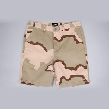 HUF Fulton Classic Shorts Desert Camo