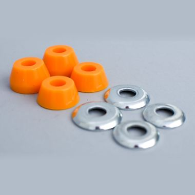 Second view of Independent 90a Medium Conical Bushings Orange